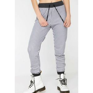 $146 WILDFOX Gingham Gwen Joggers Size XS